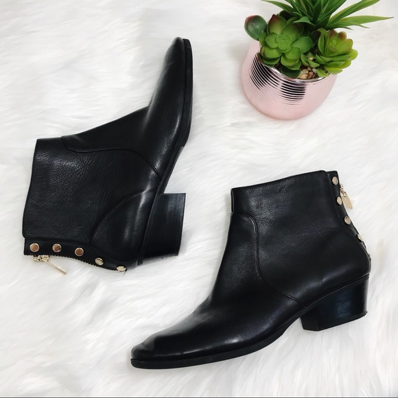 1036b2d6d2b Vince Camuto Cinza Leather Studded Ankle Boots